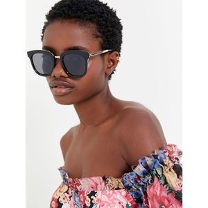 Urban Outfitters Black Square Sunglasses